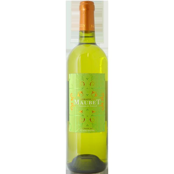 Freigestellte Weinflasche eines Weißweins aus Frankreich