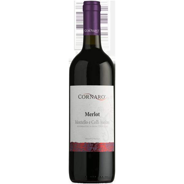Merlot Weinflasche Italien Cornaro